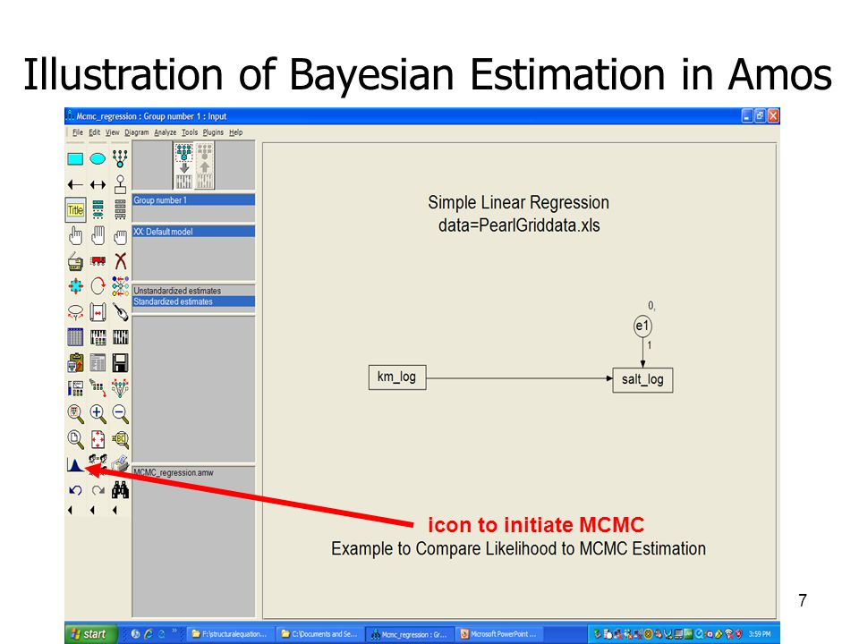 Illustration of Bayesian Estimation in Amos