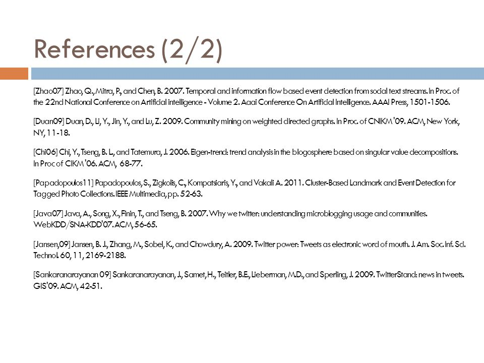 References (2/2)