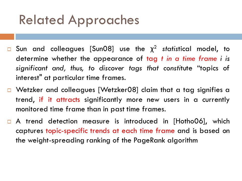 Related Approaches