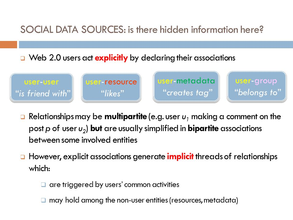SOCIAL DATA SOURCES: is there hidden information here