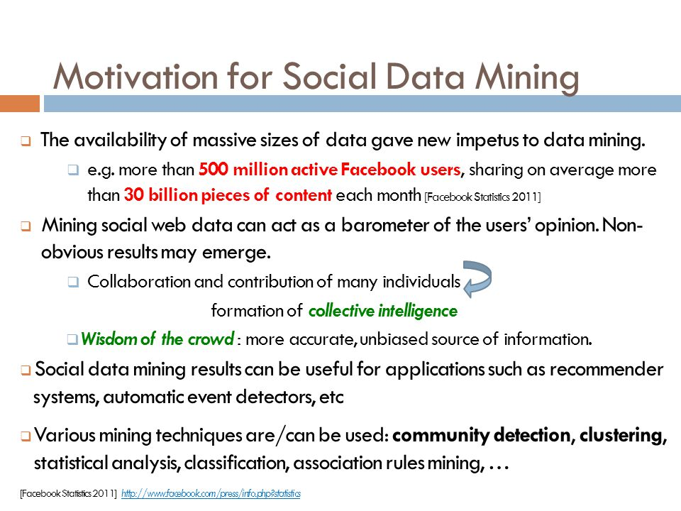 Motivation for Social Data Mining