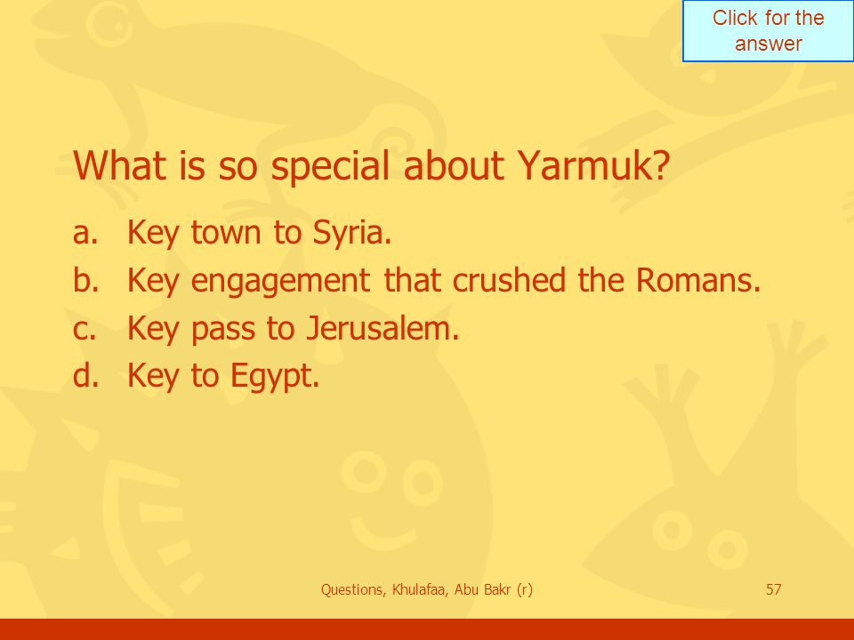 What is so special about Yarmuk