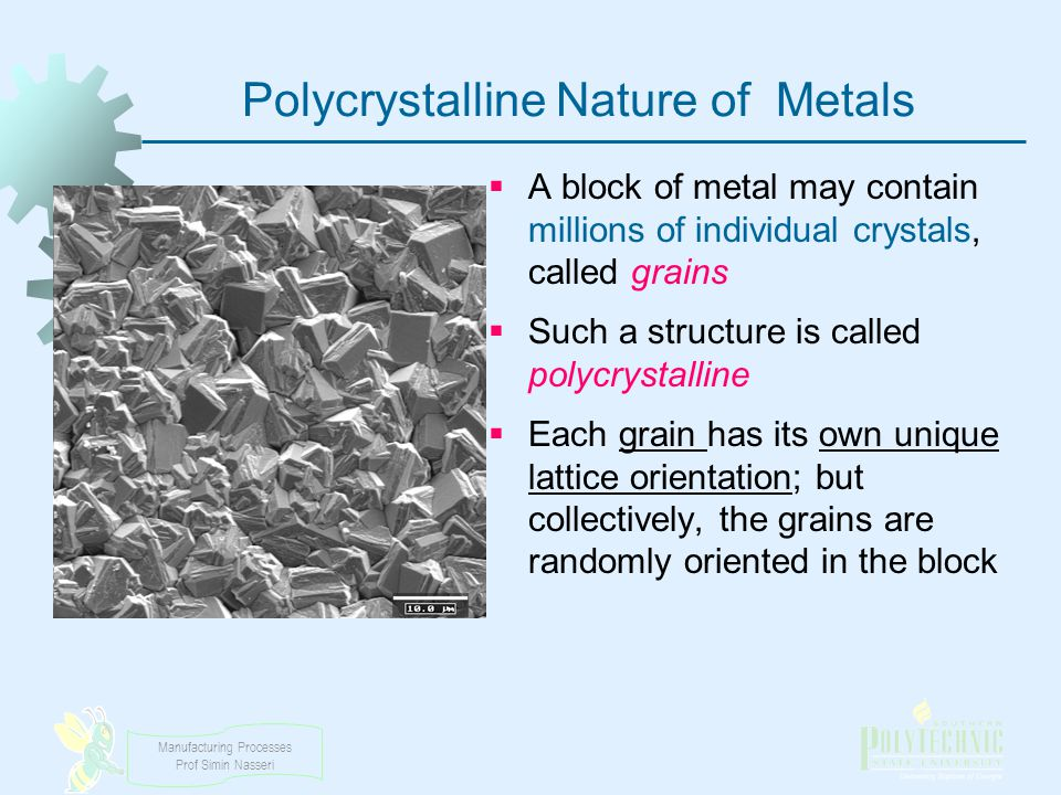 Polycrystalline Nature of Metals