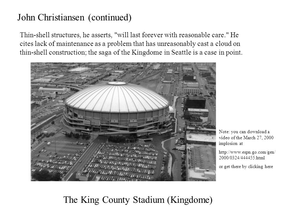 The King County Stadium (Kingdome)
