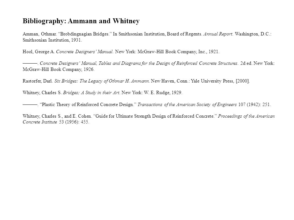 Bibliography: Ammann and Whitney