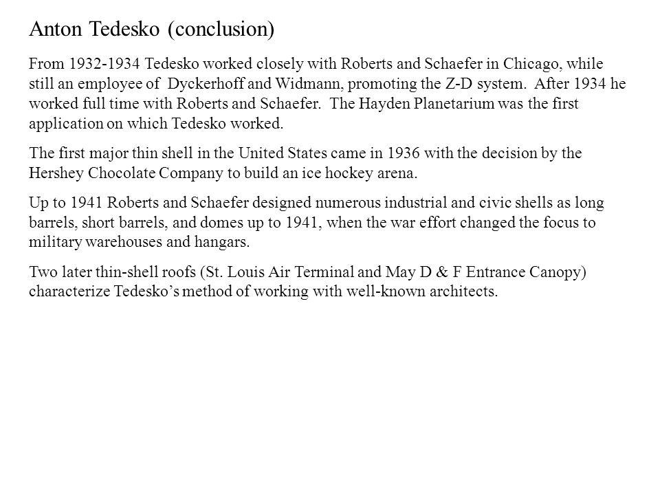Anton Tedesko (conclusion)