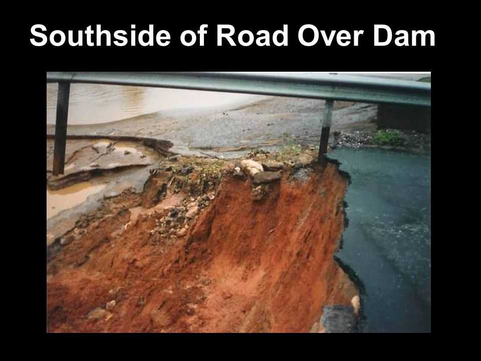Southside of Road Over Dam