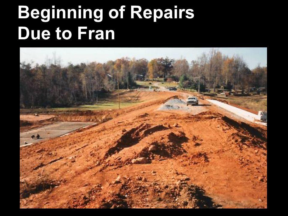 Beginning of Repairs Due to Fran