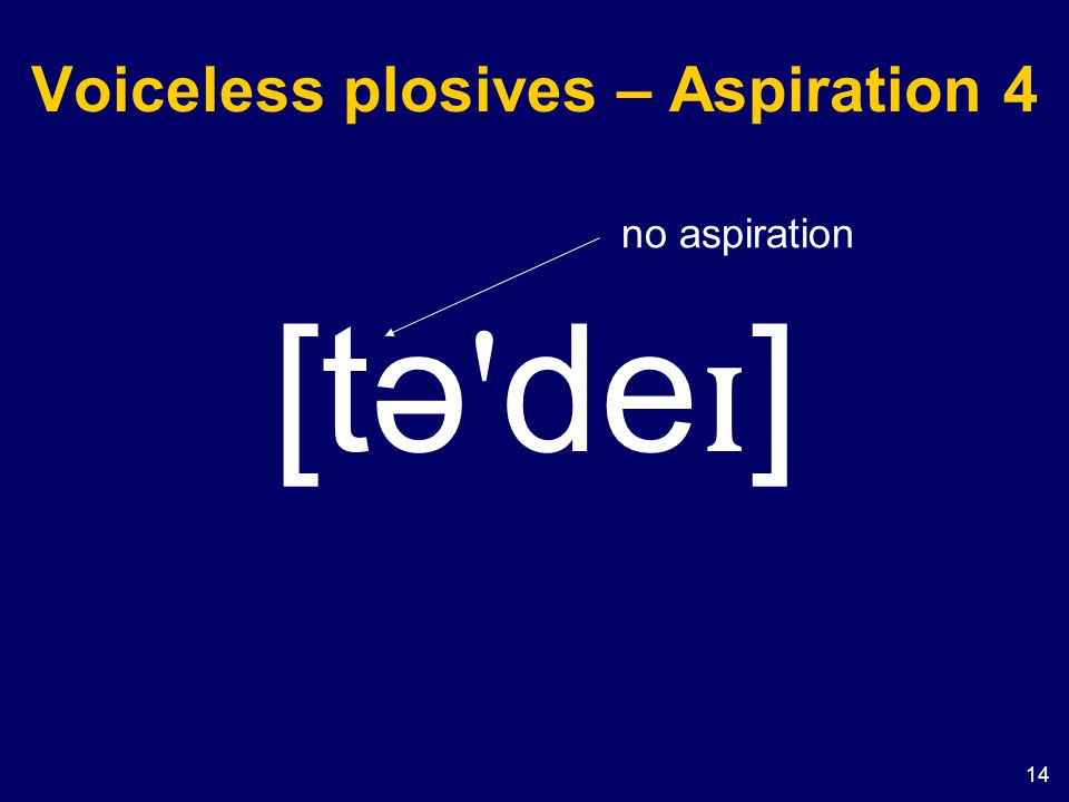 Voiceless plosives – Aspiration 4