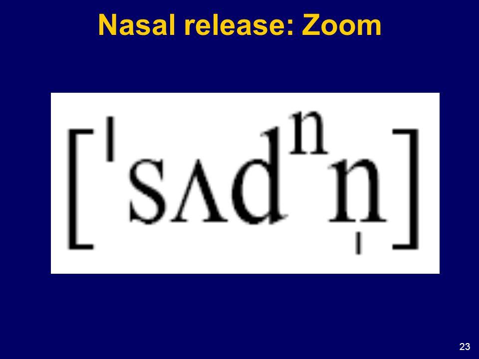 Nasal release: Zoom