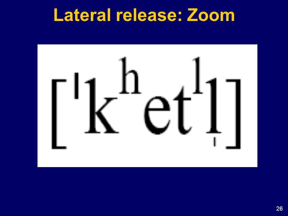 Lateral release: Zoom