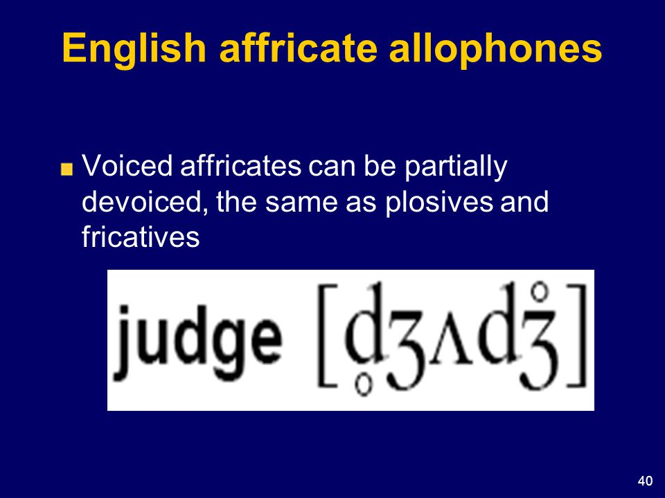 English affricate allophones