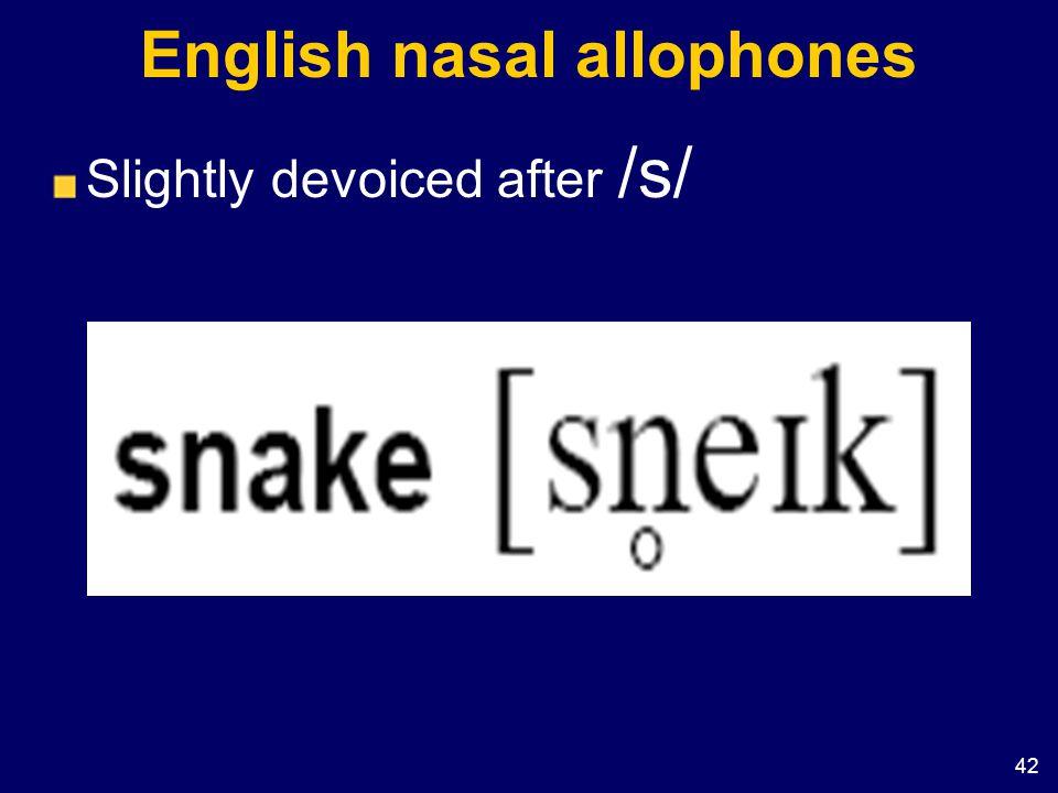English nasal allophones
