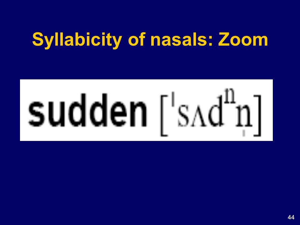 Syllabicity of nasals: Zoom