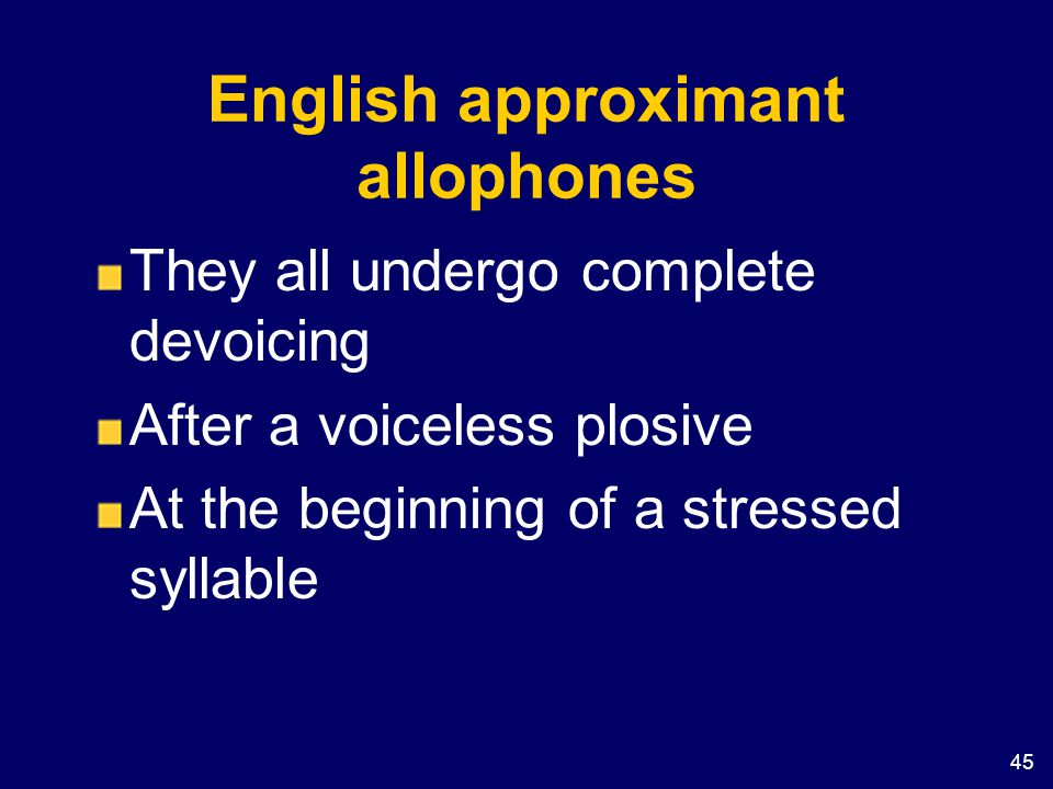 English approximant allophones