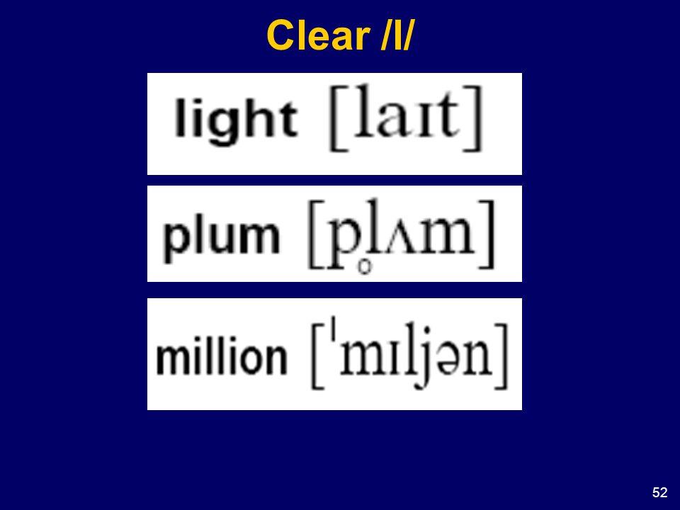Clear /l/