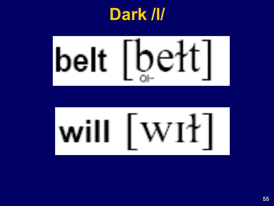 Dark /l/