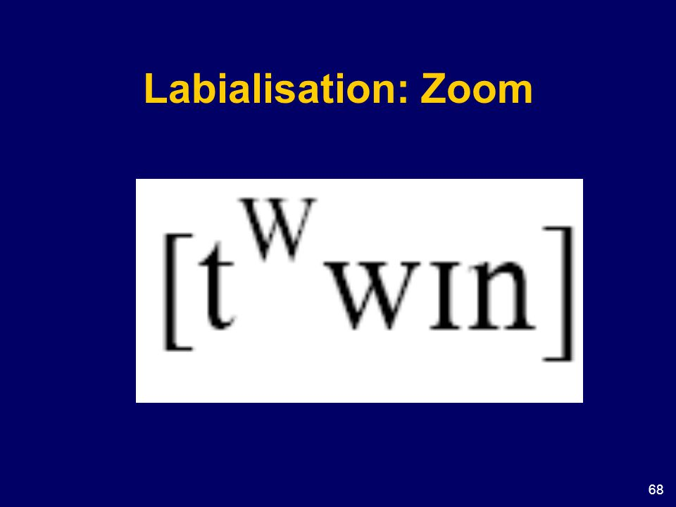 Labialisation: Zoom