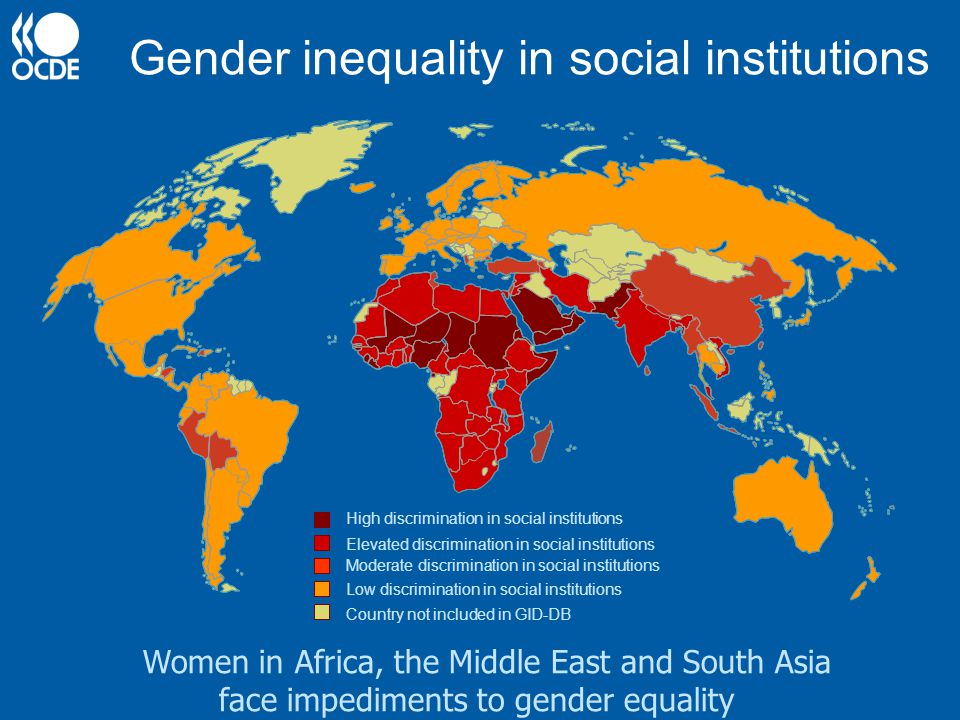 Gender inequality in social institutions