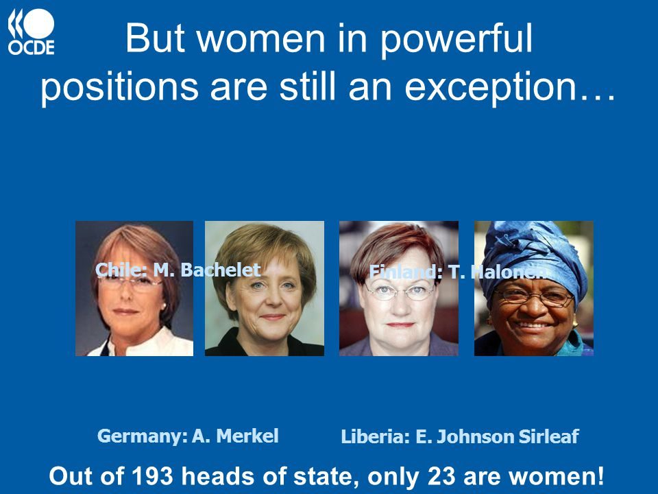 But women in powerful positions are still an exception…