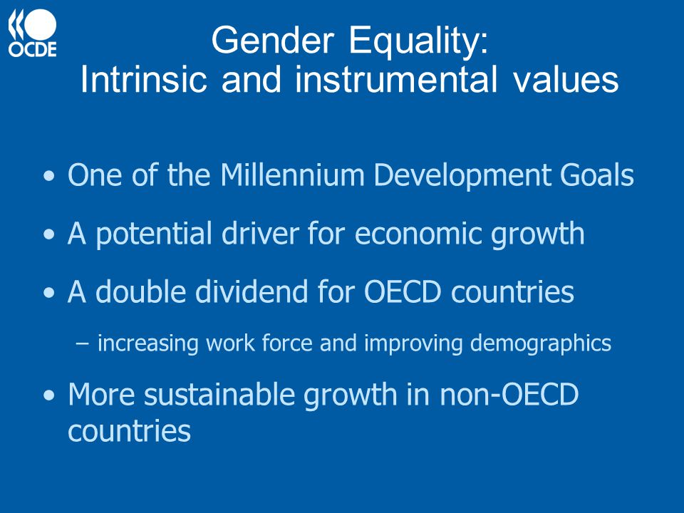 Gender Equality: Intrinsic and instrumental values