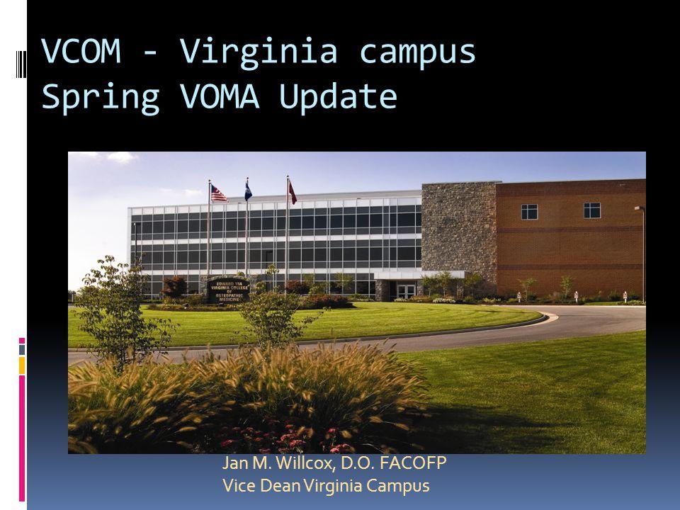 VCOM - Virginia campus Spring VOMA Update