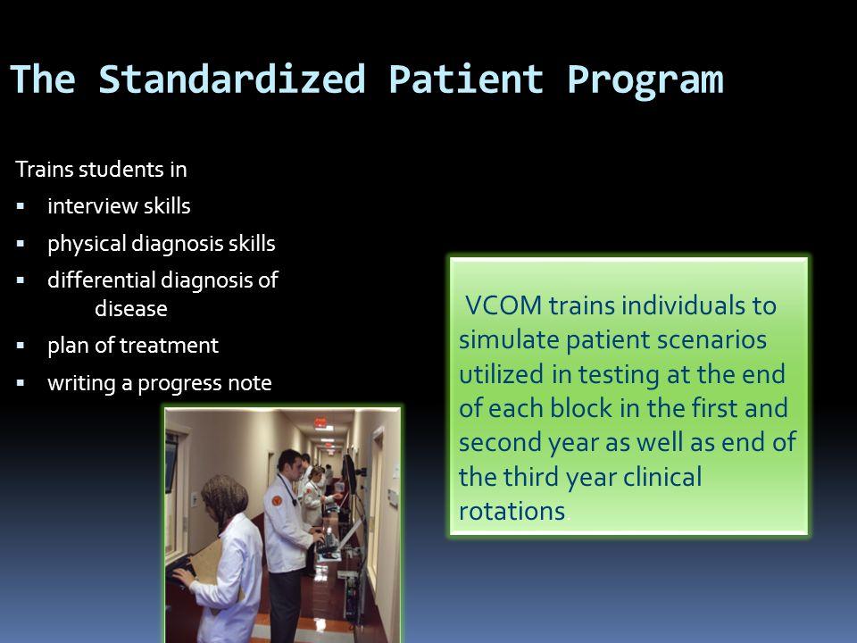 The Standardized Patient Program