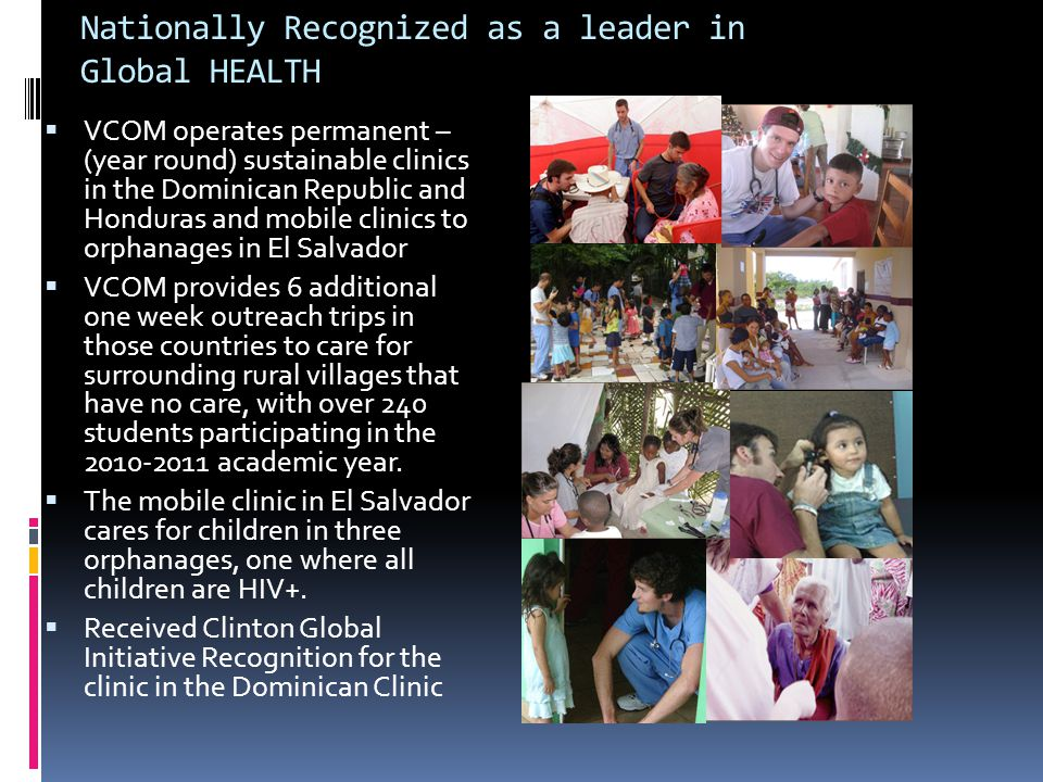 Nationally Recognized as a leader in Global HEALTH