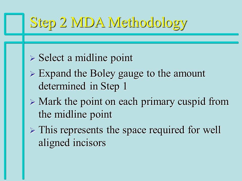 Step 2 MDA Methodology Select a midline point
