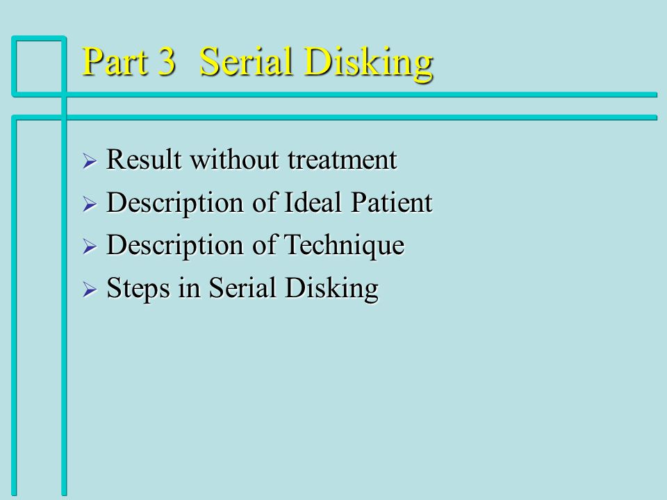 Part 3 Serial Disking Result without treatment