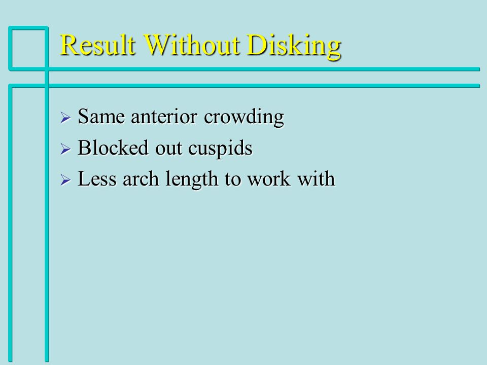 Result Without Disking