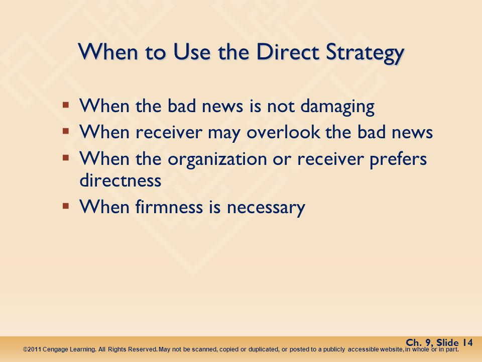 When to Use the Direct Strategy