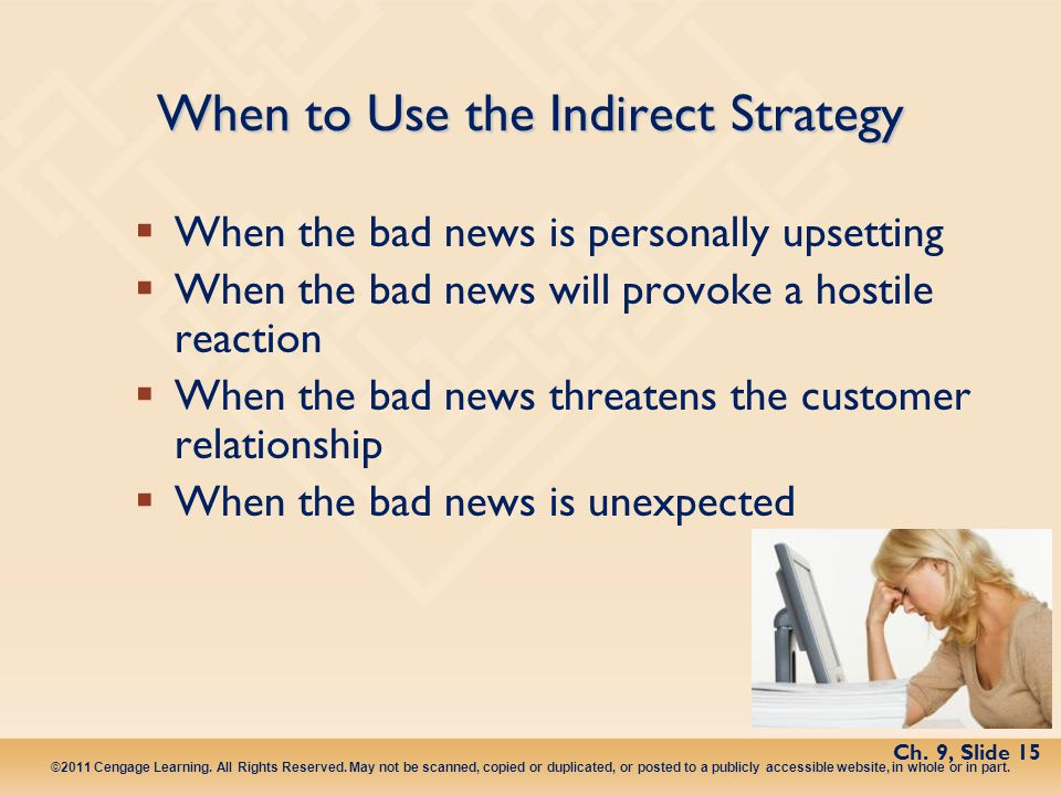 When to Use the Indirect Strategy