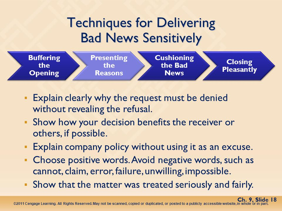Techniques for Delivering Bad News Sensitively