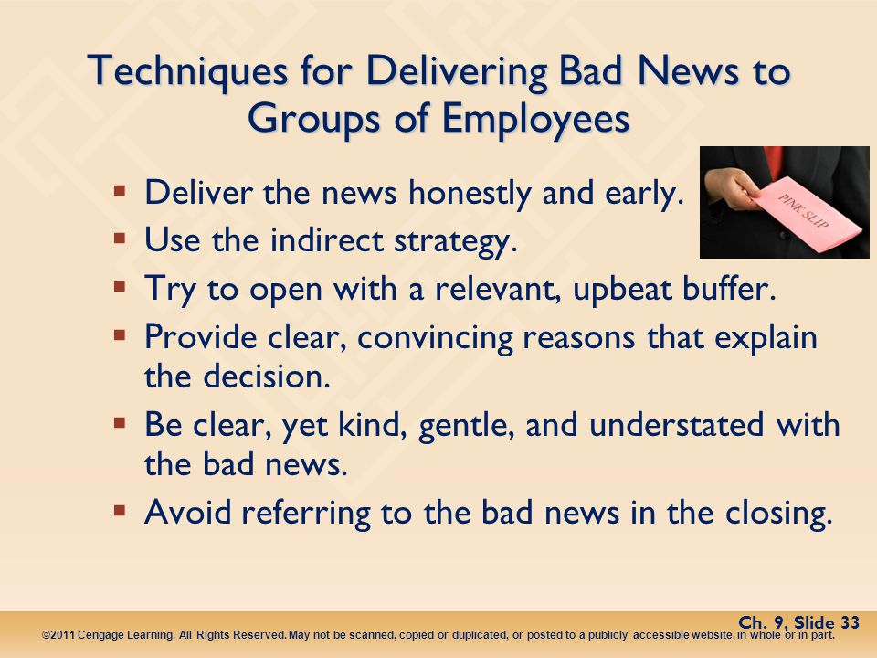 Techniques for Delivering Bad News to Groups of Employees