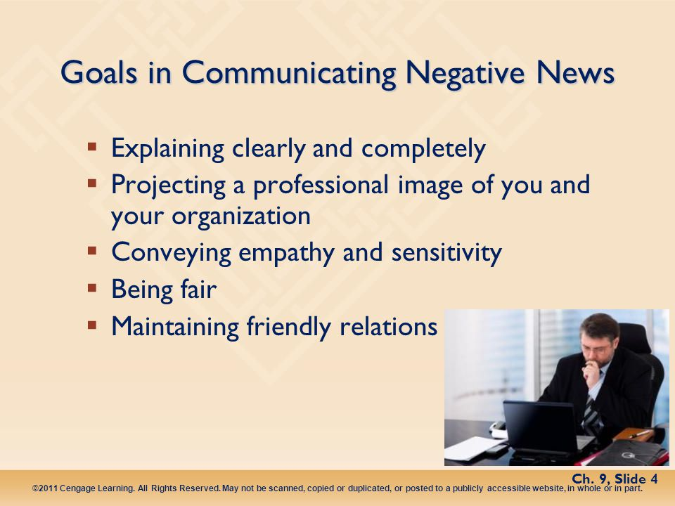 Goals in Communicating Negative News