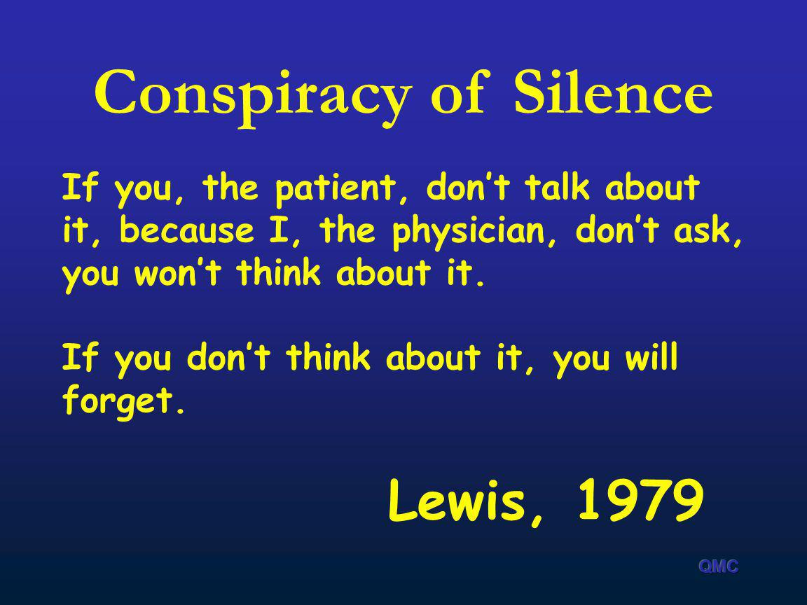 Conspiracy of Silence Lewis, 1979