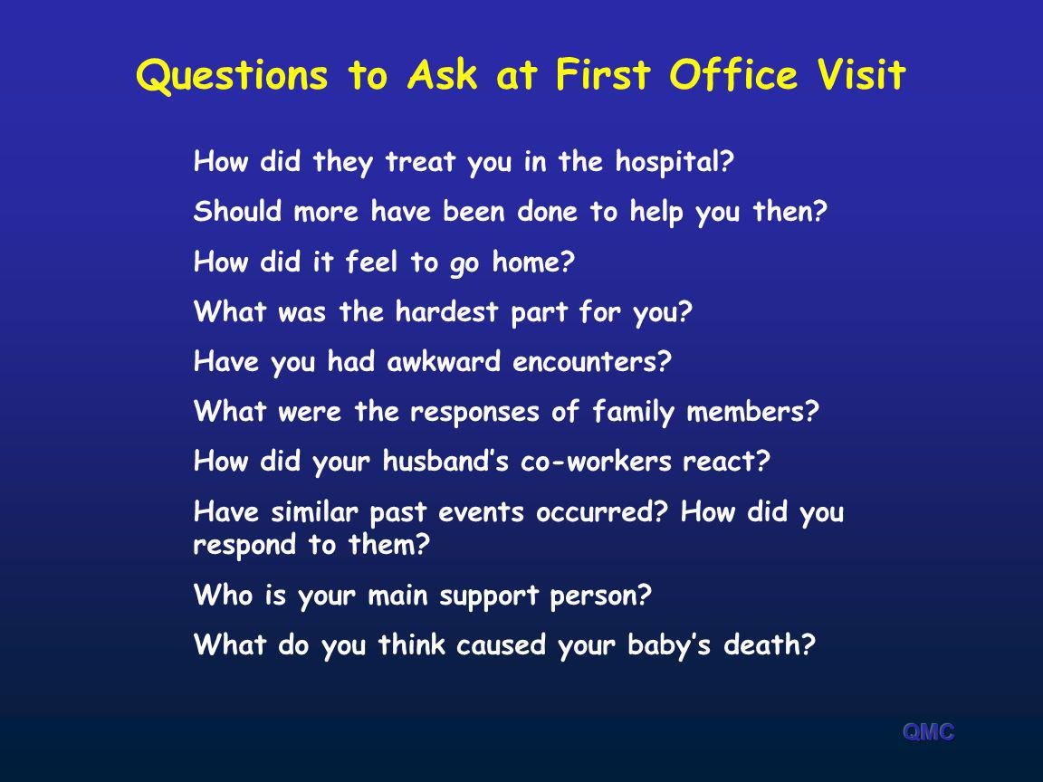 Questions to Ask at First Office Visit