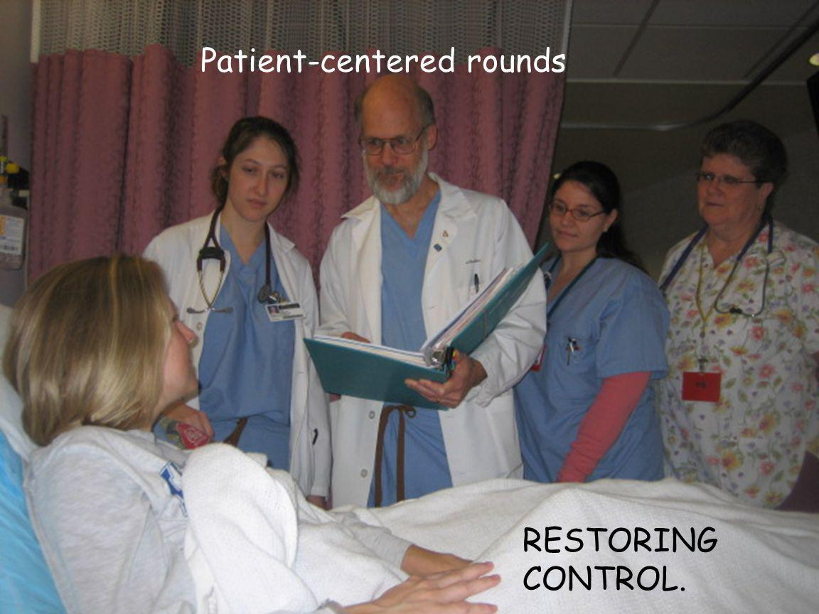 Patient-centered rounds