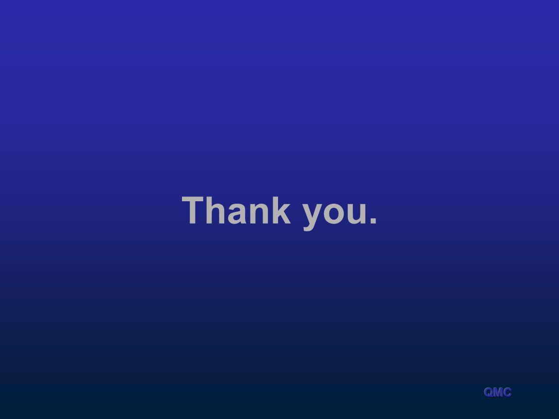Thank you. QMC
