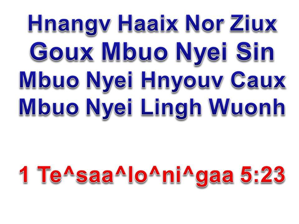 Hnangv Haaix Nor Ziux Goux Mbuo Nyei Sin Mbuo Nyei Hnyouv Caux Mbuo Nyei Lingh Wuonh