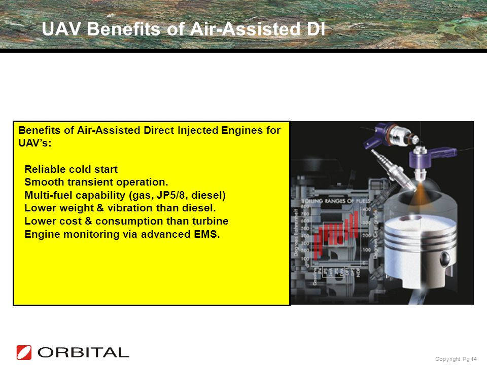 UAV Benefits of Air-Assisted DI