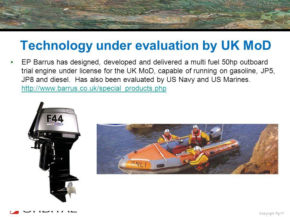 Technology under evaluation by UK MoD
