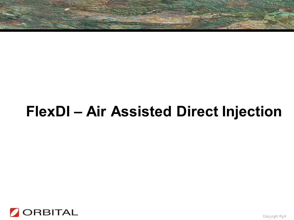 FlexDI – Air Assisted Direct Injection