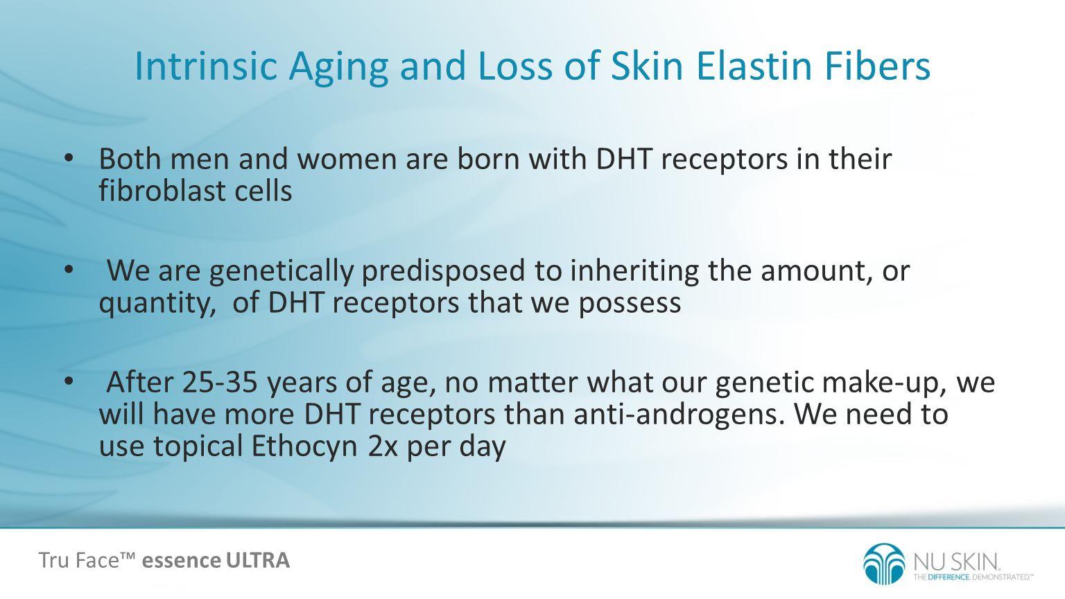 Intrinsic Aging and Loss of Skin Elastin Fibers