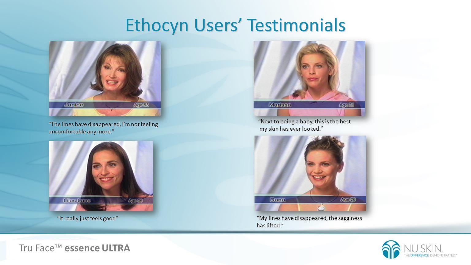 Ethocyn Users' Testimonials
