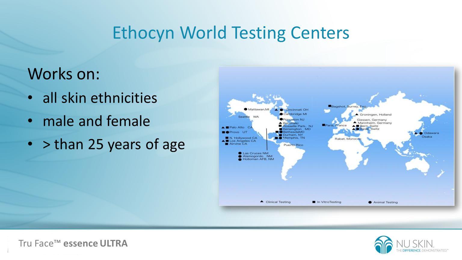Ethocyn World Testing Centers