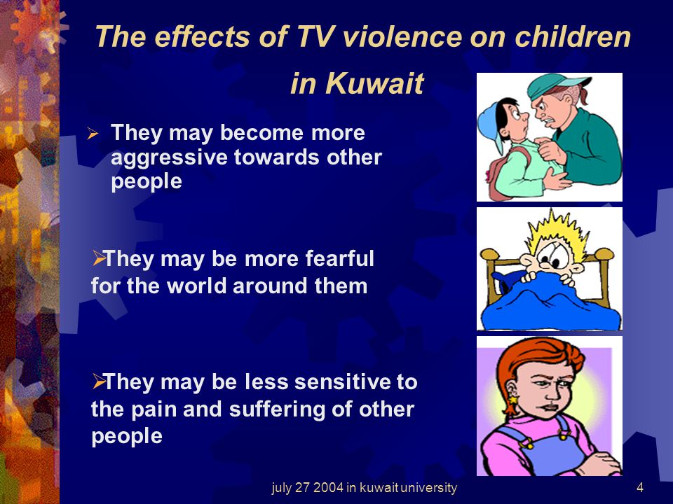 The effects of TV violence on children in Kuwait