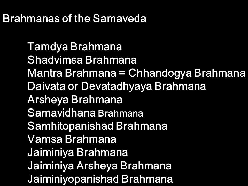 Brahmanas of the Samaveda