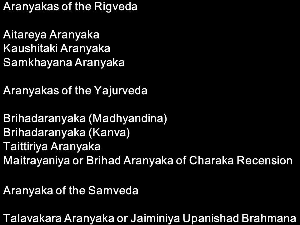 Aranyakas of the Rigveda
